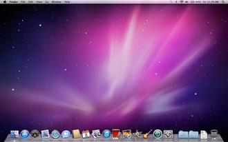 Mac OS X Snow Leopard - Image: Snow Leopard Desktop