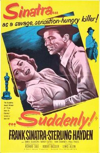 Suddenly (1954 film) - theaterical release poster