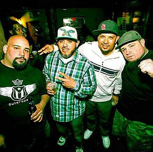 King Syze - King Syze (left), with Planetary, Zilla and Vinnie Paz.