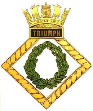 HMS Triumph (N18) - Image: TRIUMPH badge 1