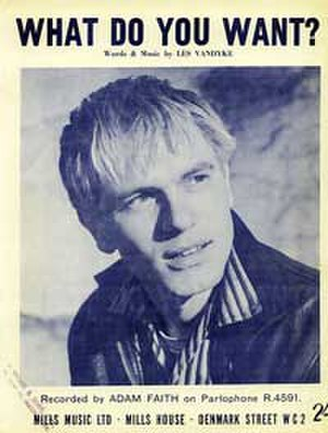 What Do You Want? (Adam Faith song) - Image: T What Do You Want