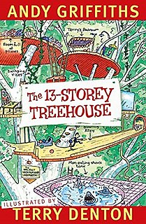 <i>The 13-Storey Treehouse</i> Childrens novel by Andy Griffiths