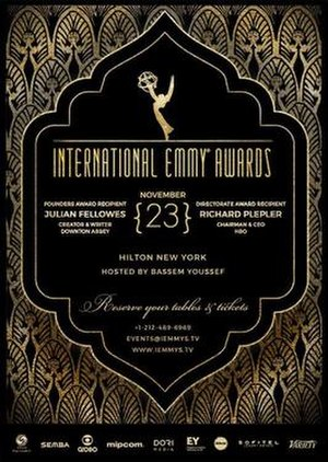 43rd International Emmy Awards - Promotional poster