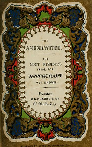 The Amber Witch - Title page of The Amber Witch, published in an English translation by E. A. Friedlander in 1844.