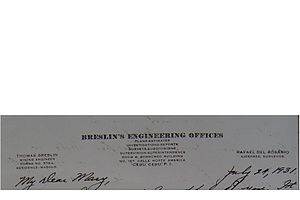 Thomas F. Breslin - His stationery