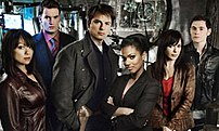 The series two cast, including special guest star Freema Agyeman as Martha Jones
