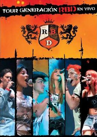 Tour Generación RBD en Vivo (video) - Image: Tour Generación RBD En Vivo DVD USA