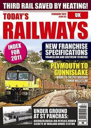 Today's Railways - Image: Typical current front page of Today's Railways UK magazine