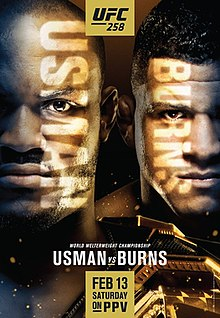 UFC 258: Usman vs. Burns Fight Poster