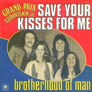 Save Your Kisses for Me - Image: UK1976Congratulation s