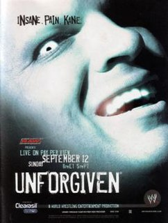 Unforgiven (2004) 2004 World Wrestling Entertainment pay-per-view event