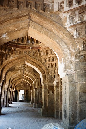 Moth ki Masjid - Five towered passage in the Mosque