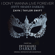 Zayn & Taylor Swift - I Don't Wanna Live Forever (Official Single Cover).png