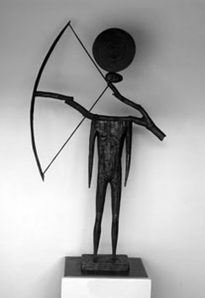 John E. Buck - The Archer, patinated bronze sculpture by John E. Buck, 1991, extended loan to the Honolulu Museum of Art from the Twigg-Smith Foundation