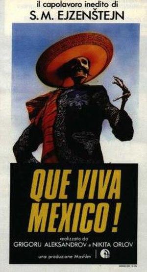 ¡Que viva México! - Italian poster
