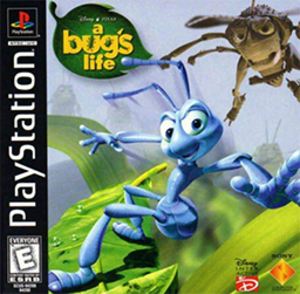 A Bug's Life (video game) - North American PlayStation box art