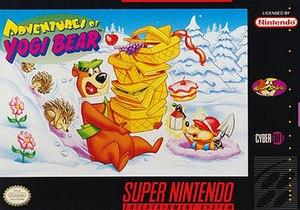 Adventures of Yogi Bear - Cover art (Super NES)