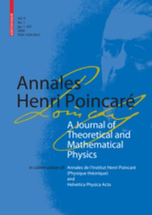 Annales Henri Poincaré - Image: Annales Henri Poincare displayimage