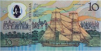 Banknotes of the Australian dollar - 1988 commemorative polymer note - obverse