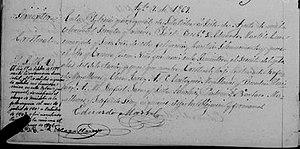 Cristóbal Magallanes Jara - The Baptism of Cristobal Magallanes Jara; he was baptized on August 7th, 1869.
