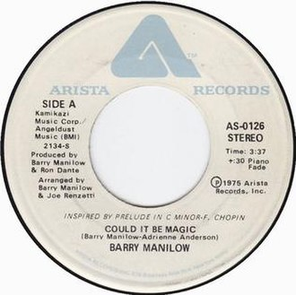Could It Be Magic - Image: Barry Manilow Could it be magic A side US vinyl 1975