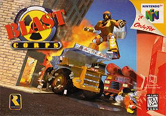Blast Corps - North American cover art