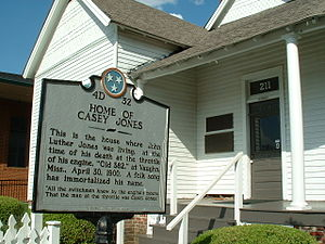 Casey Jones - Casey Jones' home at the time of his death