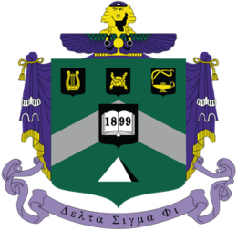 Delta Sigma Phi fraternity Coat of Arms.png