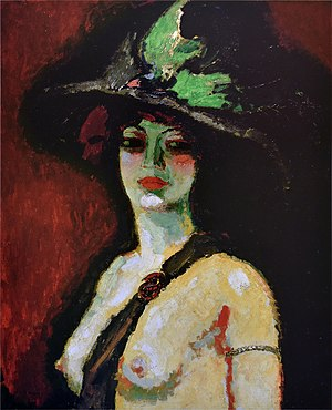 Kees van Dongen - Woman with Large Hat (Femme au grand chapeau), 1906, oil on canvas, 100 x 81 cm
