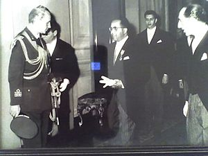 Driss Debbagh - Driss Debbagh while Ambassador of Morocco to Italy meeting the president of Italia Giovanni Gronchi (circa 1960)