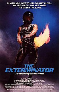 <i>The Exterminator</i> 1980 vigilante film directed by James Glickenhaus
