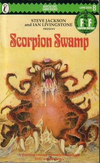 Scorpion Swamp - The original Puffin Books cover of Scorpion Swamp