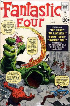 Marvel Comics - Image: Fantastic Four Vol 1 01 Cover