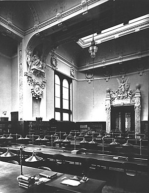 Heidelberg University Library - The historical reading room fell victim to a 'modernization' in 1954