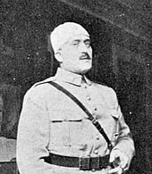 Middle-aged man in French military uniform of the First World War