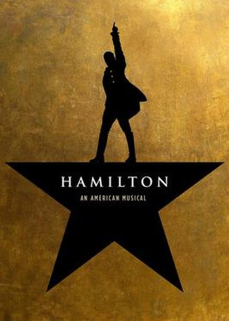 Hamilton (musical) - Broadway promotional poster