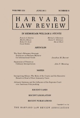 Harvard Law Review - Image: Harvard Law Review (June 2011 cover)