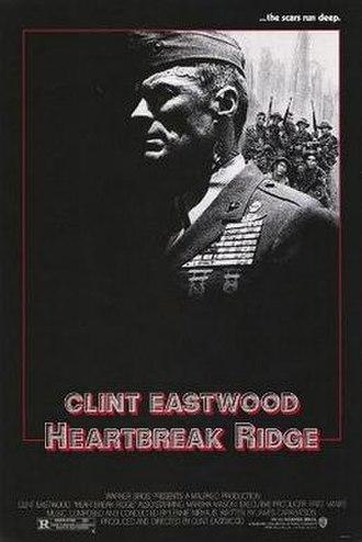 Heartbreak Ridge - Heartbreak Ridge theatrical release poster