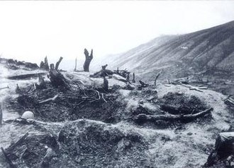 Battle of Hill 731 - View of Hill 731 after the battle.