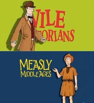 Horrible Histories (2009 TV series) - Typical examples of the title cards with animated characters, based on the art style of the books, that introduced sketches
