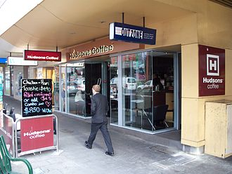 Hudsons Coffee - A Hudsons Coffee outlet in Murray Street, Hobart.