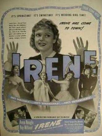 Irene (1940 film) - Original poster