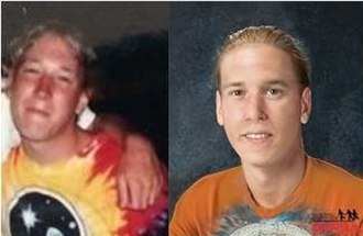 Death of Jason Callahan - Image of Callahan (left) compared to a reconstruction created by the National Center for Missing & Exploited Children