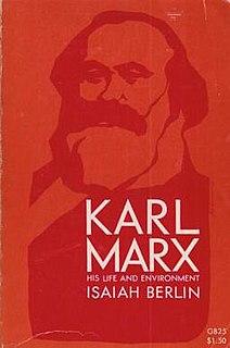 <i>Karl Marx: His Life and Environment</i> 1939 book by Isaiah Berlin