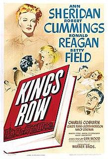 <i>Kings Row</i> 1942 film directed by Sam Wood