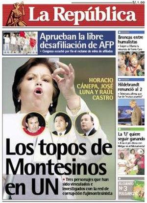La República - Image: La Republica Frontpage