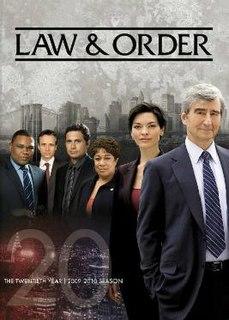 <i>Law & Order</i> (season 20) Season of television series