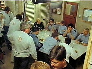 London's Burning (TV series) - Filming an interior scene at Jacob Street Studios