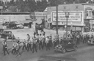 Goin' Band from Raiderland - The Matador band at the Texas Tech-Loyola Parade in 1934
