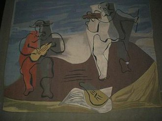 1251 Avenue of the Americas - Artist-authorized replica of Pablo Picasso's tapestry for the ballet Mercure